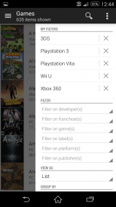 (Saveable) Filter options for game collection