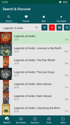 Searching for Legends of Andor